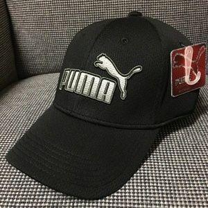 PUMA Evercat Mesh Stretch Fit Cap Hat BLACK S/M
